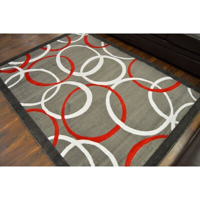 Cosner Gray/Red Area Rug