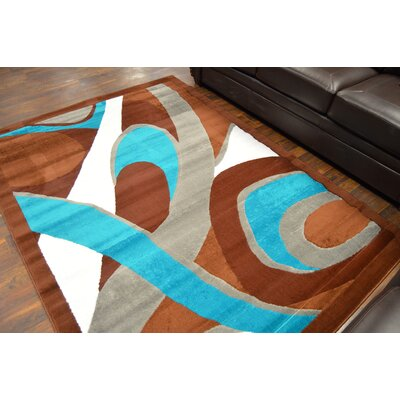 Cosner Brown/Turquoise Area Rug