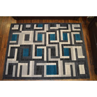 Cosper Gray/Turquoise Area Rug