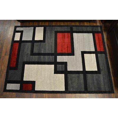 Cosper Gray/Red Area Rug