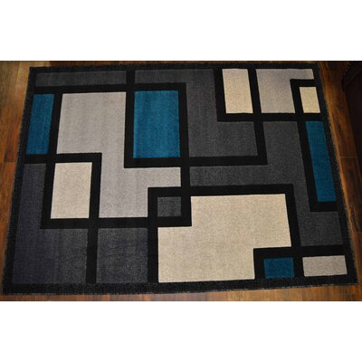 Cosper Turquoise/Gray Area Rug