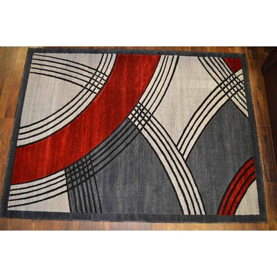 Cosper Red/Gray Area Rug