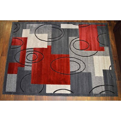Red/Gray Area Rug
