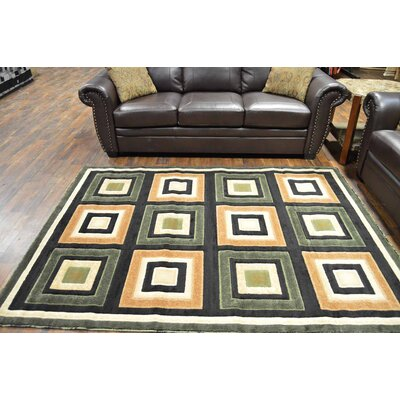 Cosper Green/Black Area Rug