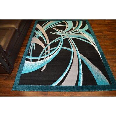 Costanzo Turquoise/Black Area Rug