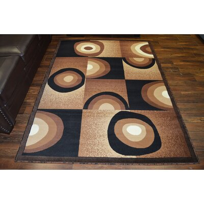 Costillo Chocolate/Black Area Rug