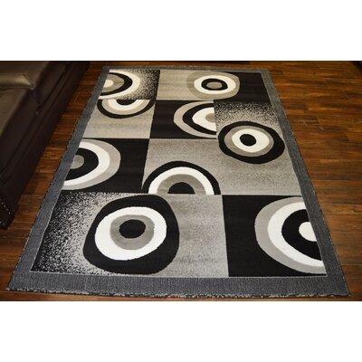 Cosner Gray/Black Area Rug