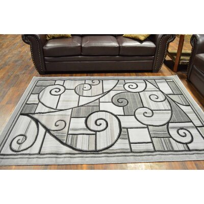 Cosper Gray/Black Area Rug