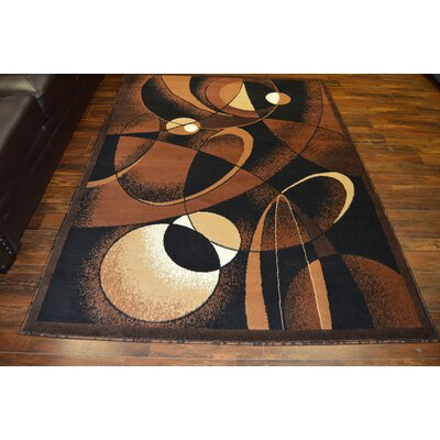 Cote Chocolate/Black Area Rug