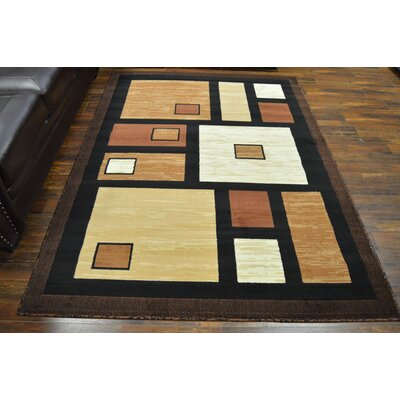 Cotner Chocolate/Black Area Rug