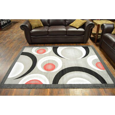 Coulombe Gray/Black Area Rug
