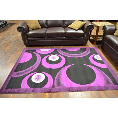 Coulson Purple/Black Area Rug