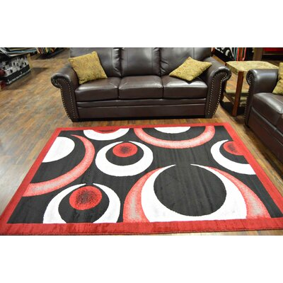Coulter Red/Black Area Rug