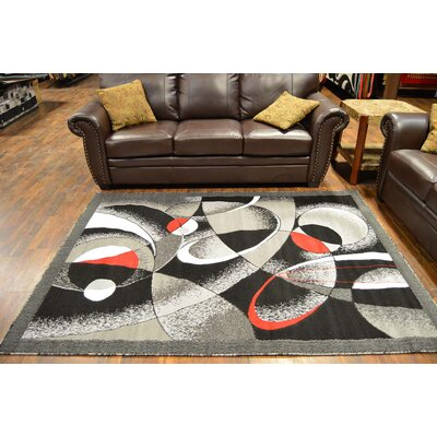 Cournoyer Gray/Black Area Rug