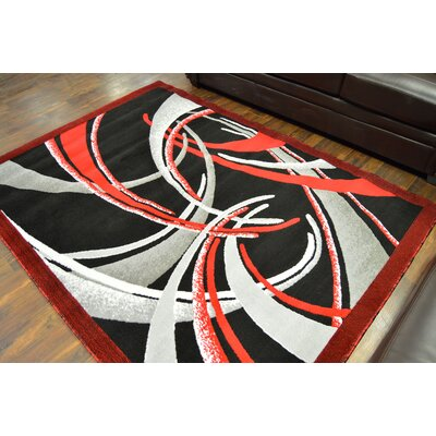 Courson Red/Black Area Rug