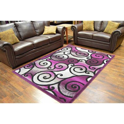 Cosper Purple/Black Area Rug