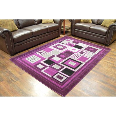 Cosper Purple Area Rug