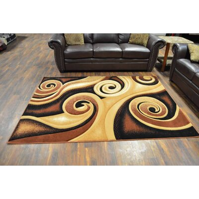 Cossey Chocolate/Beige Area Rug