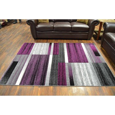 Cossey Purple/Gray Area Rug