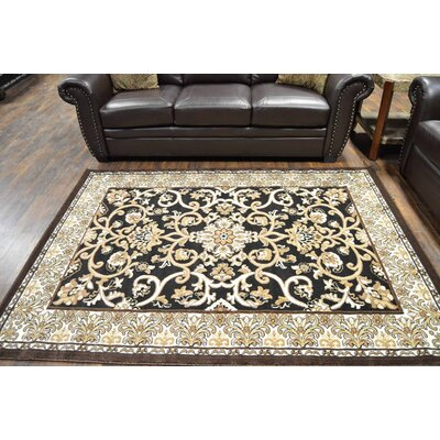Horvath Black/Beige Area Rug