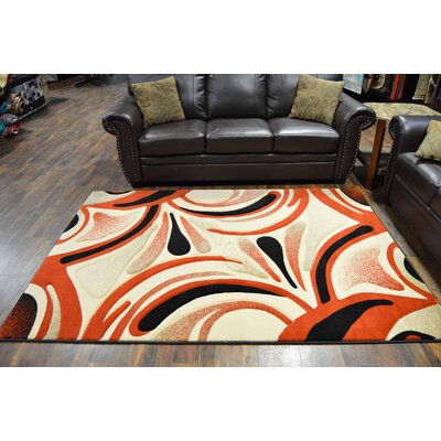 Magallanes Terracotta/Black Area Rug
