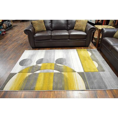 Maglio Gray/Yellow Area Rug