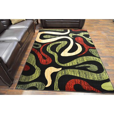 Cossette Green/Black Area Rug