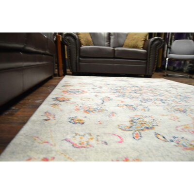 Petitt Cream/Blue Area Rug