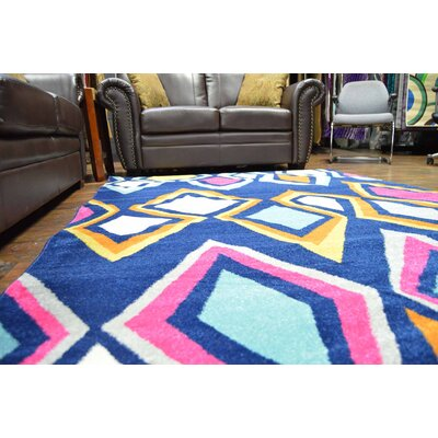 Petitt Navy/Yellow Area Rug