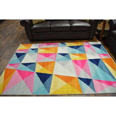 Frady Turquoise/Pink Area Rug