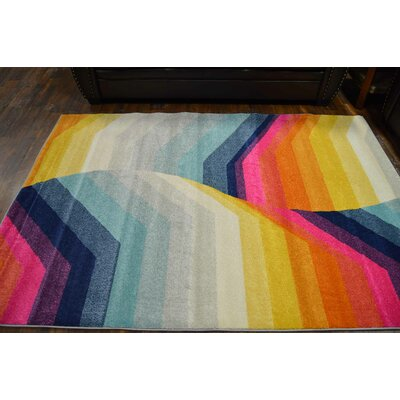 Fragoso Cream/Turquoise Area Rug