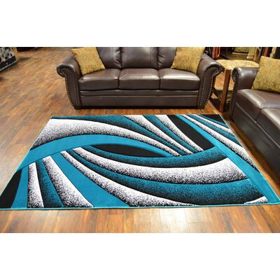 Maez Turquoise/Gray Area Rug
