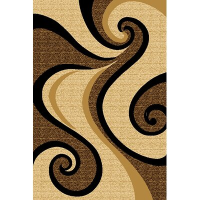 Mccampbell 3D Abstract Beige/Brown Area Rug Rug Size: Rectangle 2' x 4'