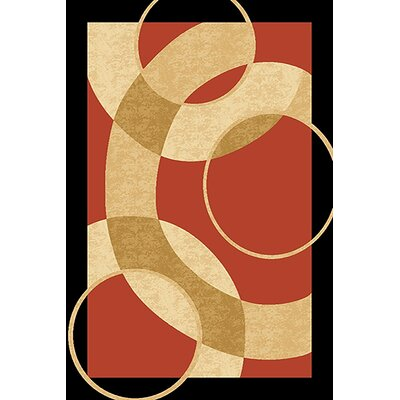 Mccampbell 3D Abstract Terracotta/Beige Area Rug Rug Size: Rectangle 8' x 11'