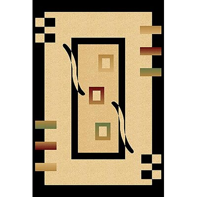 Mccampbell 3D Black/Beige Area Rug Rug Size: Rectangle 5' x 7'