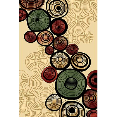Mccampbell 3D Abstract Beige/Cream Area Rug Rug Size: Rectangle 5 x 7