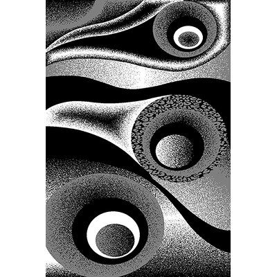 Mccampbell 3D Abstract Black/White Area Rug Rug Size: Rectangle 2' x 4'