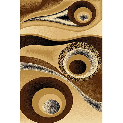Mccampbell 3D Abstract Chocolate/Brown Area Rug Rug Size: Rectangle 8' x 11'