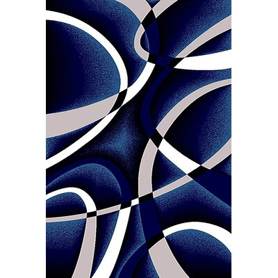Mccampbell 3D Abstract Navy/White Area Rug Rug Size: Rectangle 2 x 4