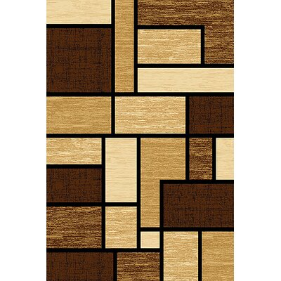 Mccampbell 3D Beige/Brown Area Rug Rug Size: Rectangle 8 x 11
