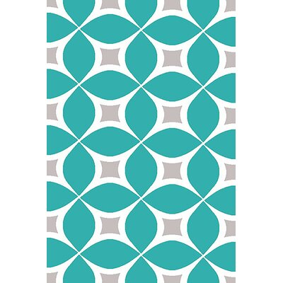 Mccampbell 3D Turquoise Area Rug Rug Size: Rectangle 8 x 11