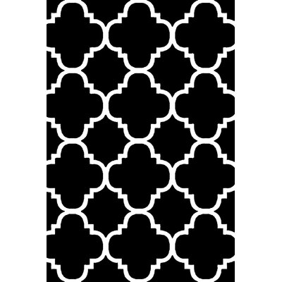 Mccampbell 3D Black/White Area Rug Rug Size: Rectangle 8 x 11