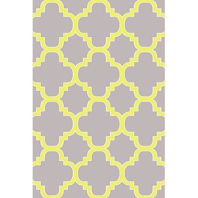 Mccampbell 3D Gray/Yellow Area Rug Rug Size: Rectangle 5 x 7