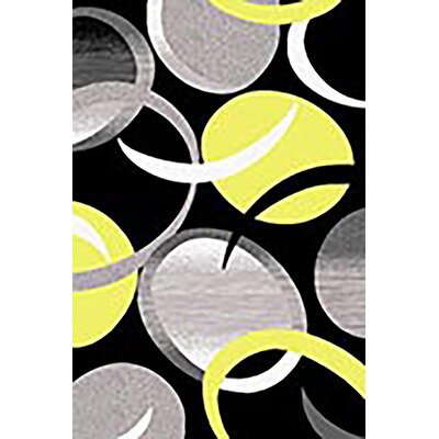 Mccampbell 3D Abstract Yellow/Black Area Rug Rug Size: Rectangle 5 x 7