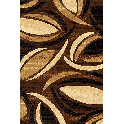 Mccampbell 3D Abstract Chocolate/Beige Area Rug Rug Size: Rectangle 8' x 11'