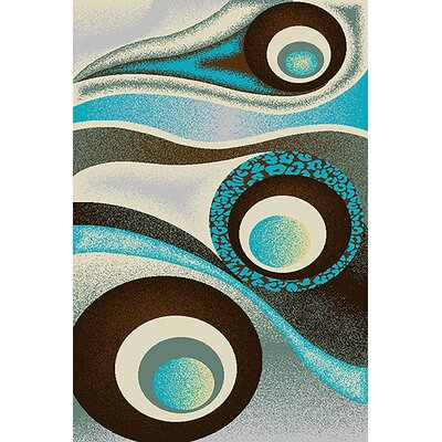 Mccampbell 3D Abstract Brown/Turquoise Area Rug Rug Size: Rectangle 8 x 11