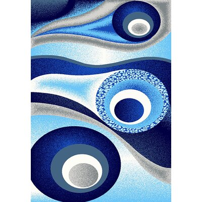 Mccampbell 3D Abstract Navy/Blue Area Rug Rug Size: Rectangle 8 x 11