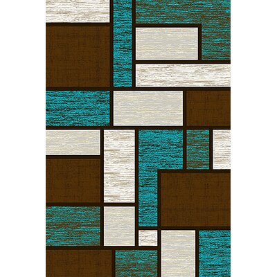 Mccampbell 3D Blue/Brown Area Rug Rug Size: Rectangle 8 x 11