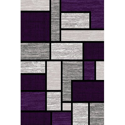 Mccampbell 3D Purple/Gray Area Rug Rug Size: Rectangle 2 x 4