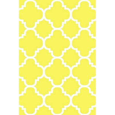 Mccampbell 3D Yellow Area Rug Rug Size: Rectangle 8 x 11